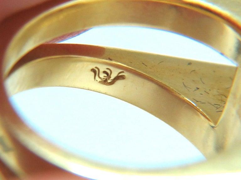 Women's or Men's Designer Antongianni 15.20 Carat Natural Aquamarine Diamonds Ring 18 Karat For Sale