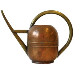 Designer Art Deco Period Brass and Copper Watering Can by Chase