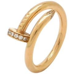 Designer Cartier Juste un Clou 14 Karat Rose Gold Ring