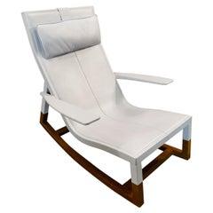 Designer Chair Poltrona Frau Don'do Rocking Chair Blue
