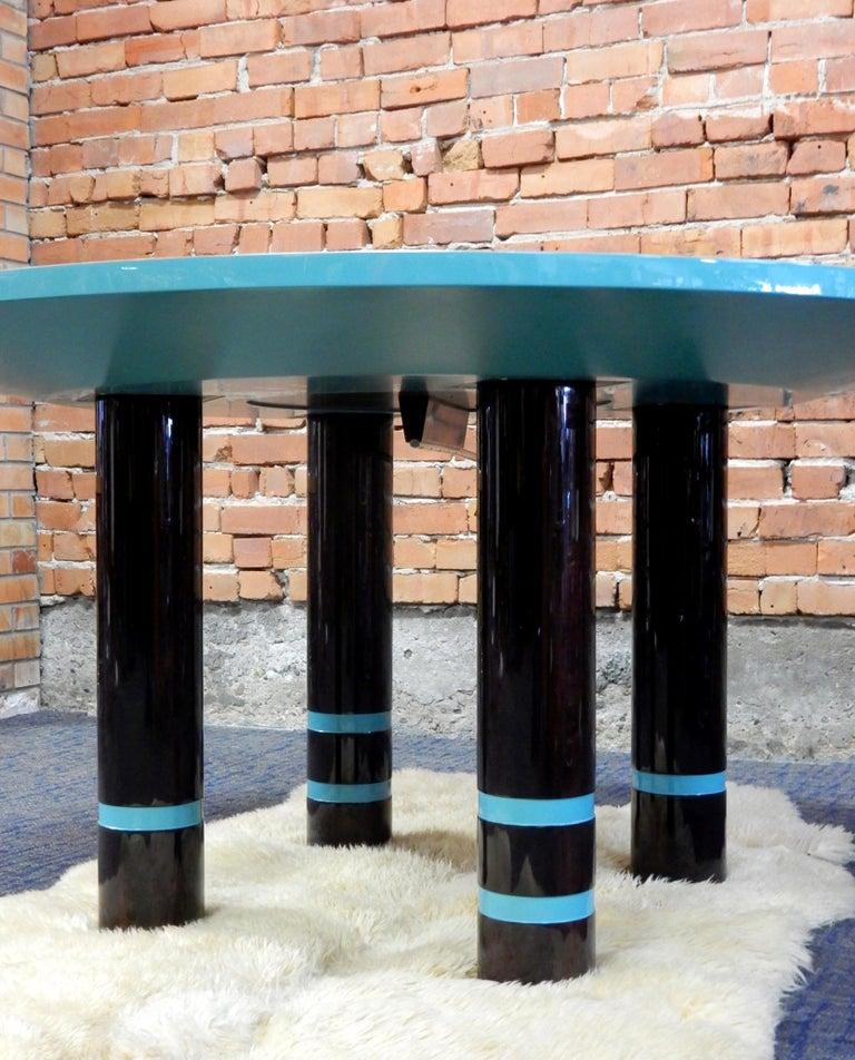 Post-Modern Designer Dakota Jackson Postmodern Exotic Wood Dining Table For Sale