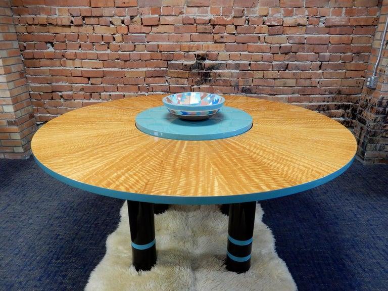 Designer Dakota Jackson Postmodern Exotic Wood Dining Table In Good Condition For Sale In Las Vegas, NV