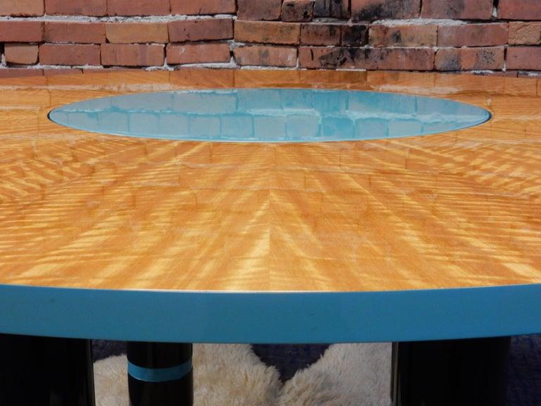 Late 20th Century Designer Dakota Jackson Postmodern Exotic Wood Dining Table For Sale