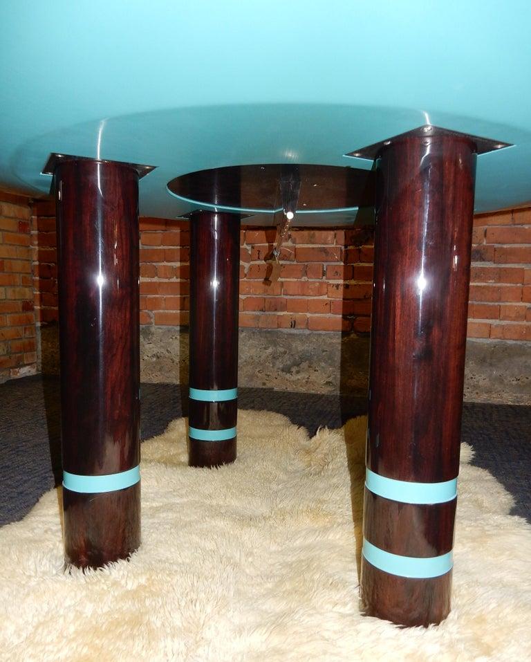 Designer Dakota Jackson Postmodern Exotic Wood Dining Table For Sale 1