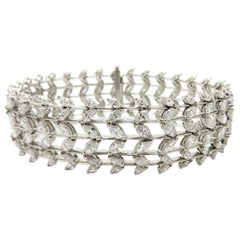 Designer Edelweiss Estate Marquise Diamond Tennis Statement Fashion Bracelet