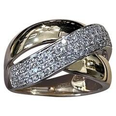 Designer Effy's 0.73 Carat Diamond Cocktail Ring 14 Karat Yellow Gold Ring