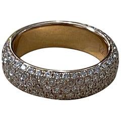 Designer Effy's 1.63 Carat Diamond Wedding Band Ring 18 Karat Rose /Pink Gold