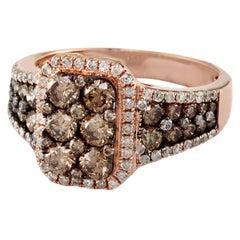 Designer Effy's 1.8 Carat Diamond Cocktail Ring 14 Karat Rose Gold Ring