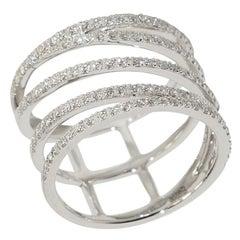 Designer Fashion Fine Jewelry White Diamond Gold Ring