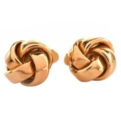 Designer Gold Knot Cufflinks