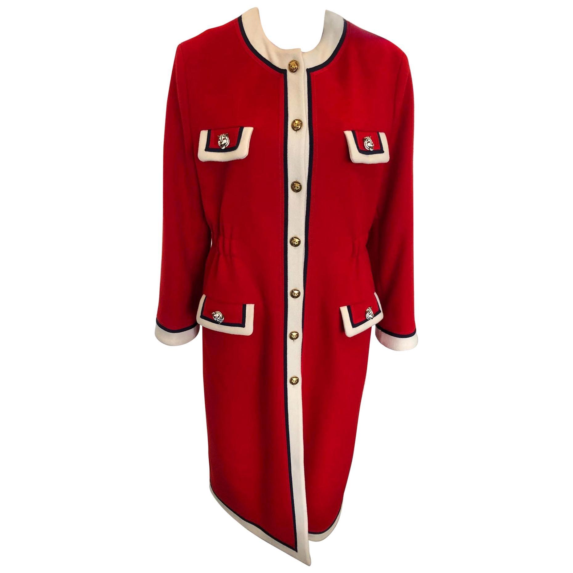 DESIGNER GUCCI Long coat red - 48