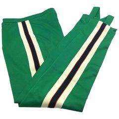 DESIGNER GUCCI Striped Jersey Ski Pants