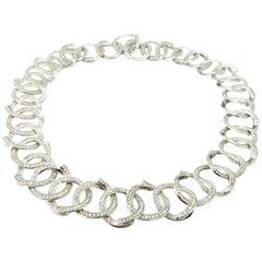 Designer H Stern 7.50 Carat Diamond 18 Karat White Gold Circles Fashion Necklace