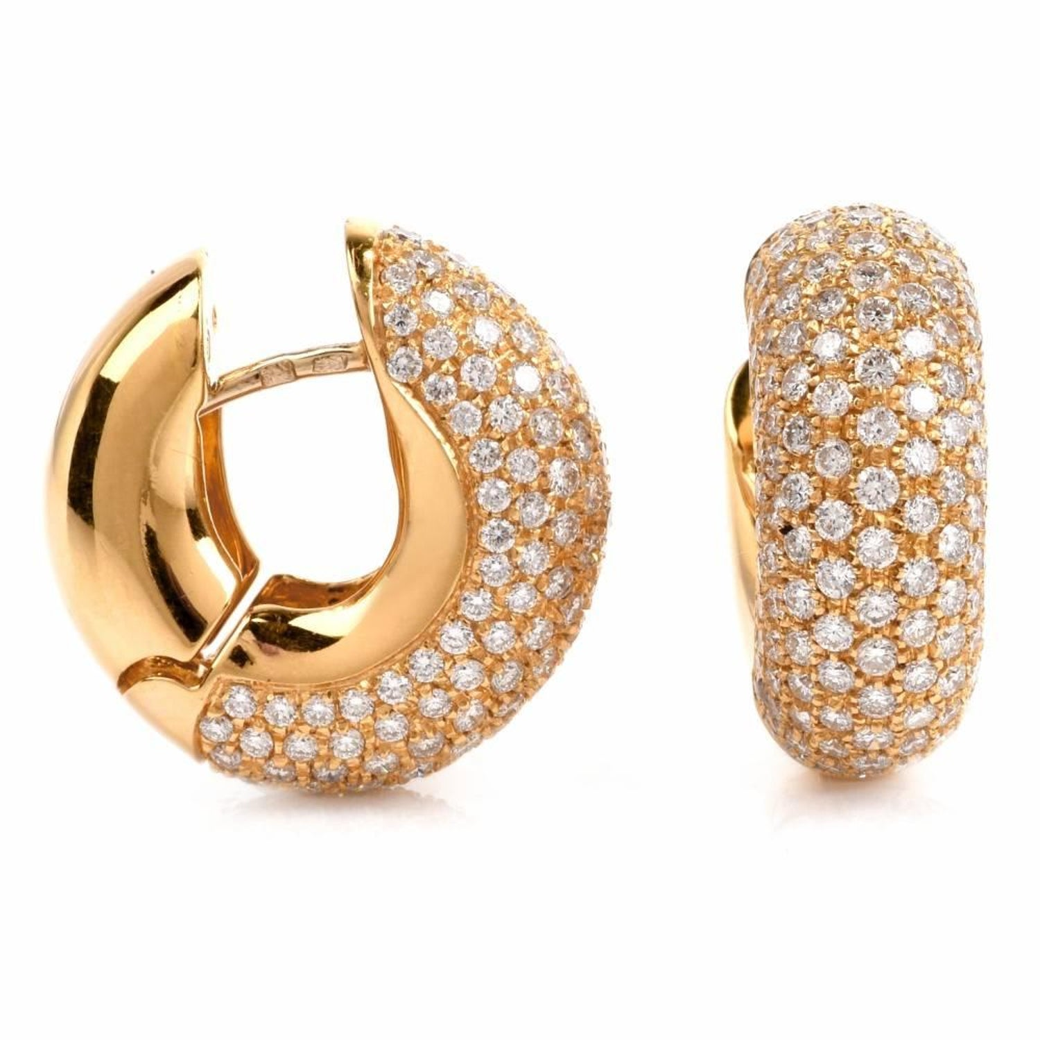 his k pin collection italian primavera has carefully roberto in coin gold placed dipped earrings