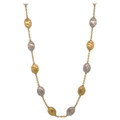 Designer Marco Bicego Siviglia Multi-Color 18 Karat Gold Necklace