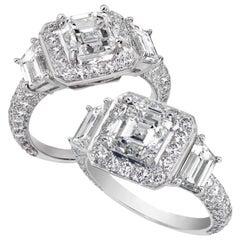 Designer Platinum Asscher Cut 2.01 CT, FVS1, GIA Diamond Ring