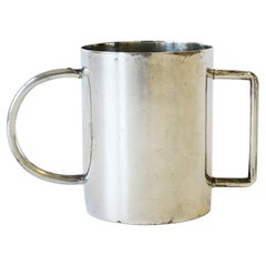 Designer Postmodern Sterling Silver Baby Cup by Richard Meier for Swid Powell