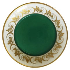 Vintage Designer Richard Ginori Italian Jewelry Dish in Gold and Green