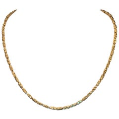 Designer Rope Necklace Gold Chain Solid 18 Karat Yellow Gold
