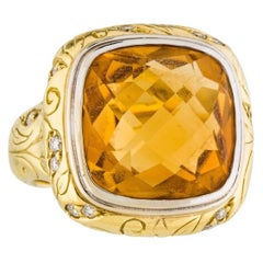 Seidengang    Citrine Diamond Gold Cocktail Ring