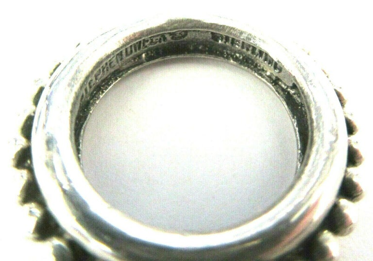Modern Designer Signed Stephen Dweck Genuine Amethyst Sterling Silver Necklace For Sale