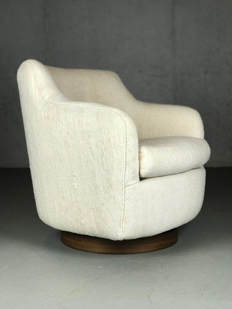 American Designer Swivel and Tilt Lounge Chairs by Milo Baughman for Thayer Coggin For Sale
