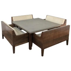 Designer Table & 4 Matching Benches by Christian Liaigre