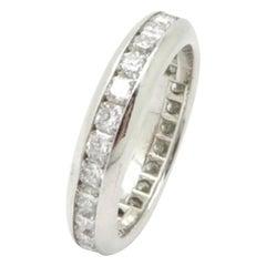 Designer Tiffany & Co. Estate Platinum Lucida Diamond Eternity Band Ring