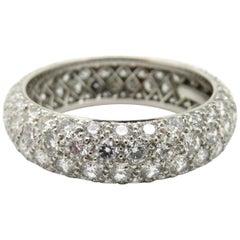 Designer Tiffany & Co. Platinum Diamond Pave Eternity Band Ring