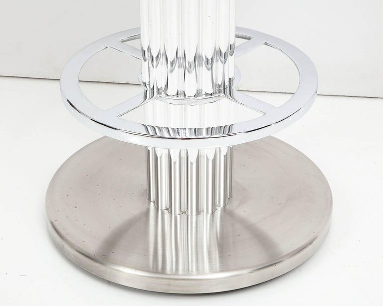 Modern Designs for Leisure Bar Nickeled Steel Stools For Sale