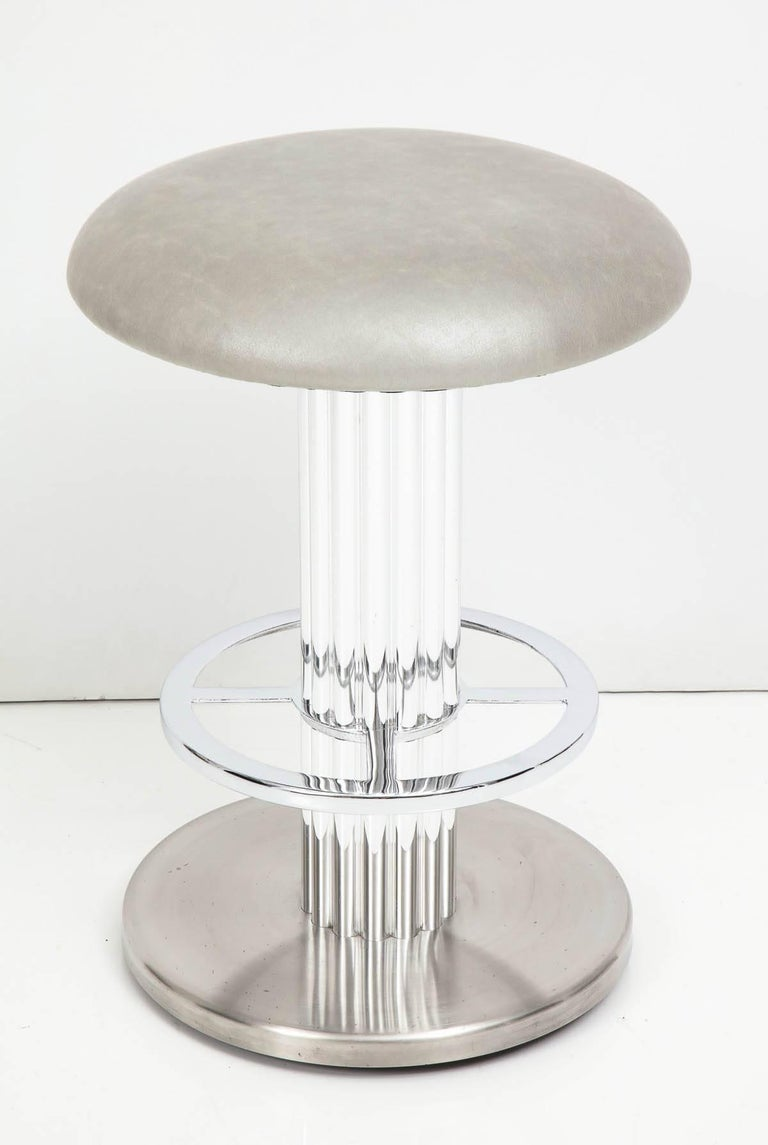 Designs for Leisure Bar Nickeled Steel Stools For Sale 1