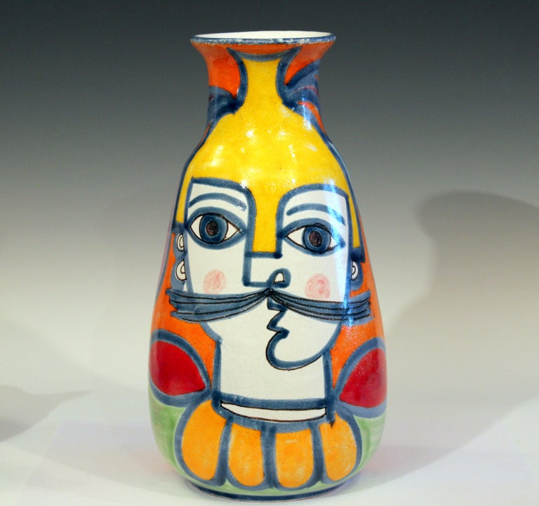 DeSimone Italian Pottery Vase Picasso Cubist Style Vintage For Sale 4