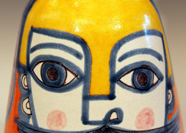DeSimone Italian Pottery Vase Picasso Cubist Style Vintage For Sale 3