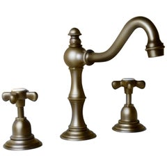 Desire Herbeau Lille France Royale Weathered Brass Widespread Lavatory Faucet