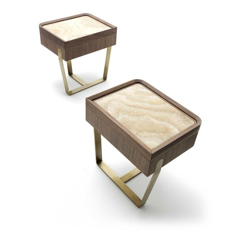 Desirè Nightstand by Ulivi Salotti In New Condition For Sale In Milan, IT