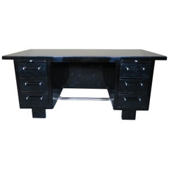 Desk Art Deco Black Lacquer