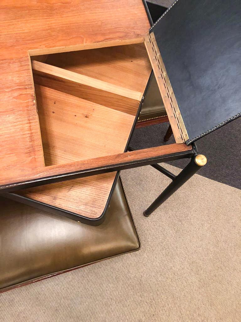 Desk by Jacques Adnet (1900-1984), France, c. 1940 In Good Condition For Sale In New York, NY
