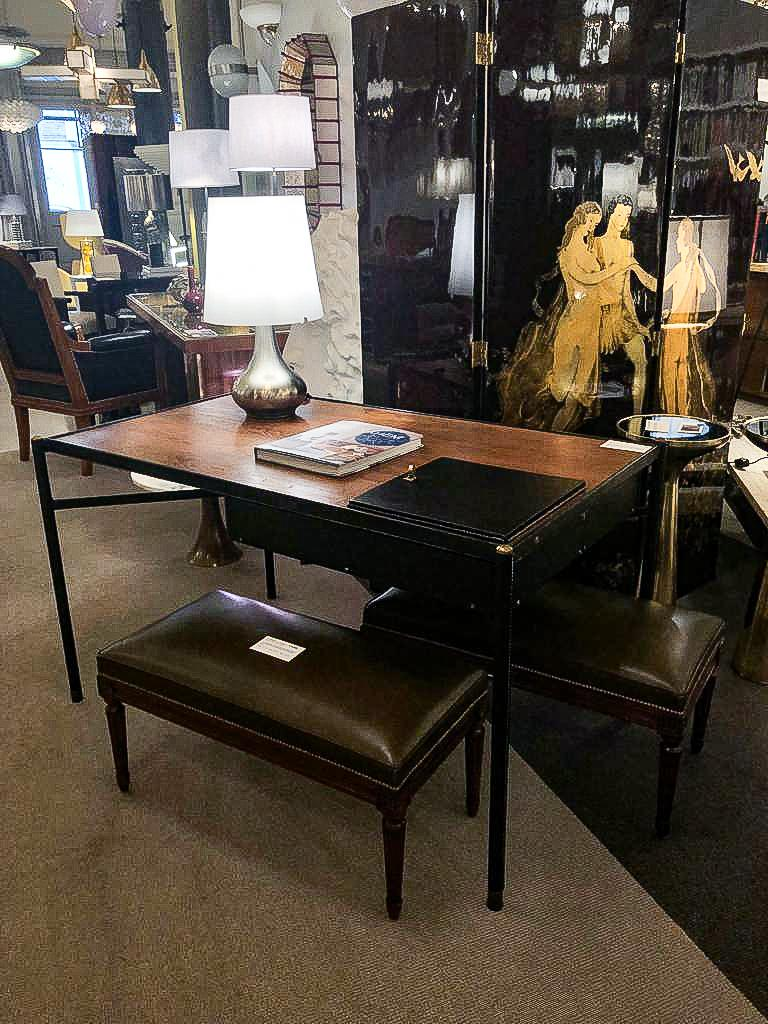 Mid-20th Century Desk by Jacques Adnet (1900-1984), France, c. 1940 For Sale
