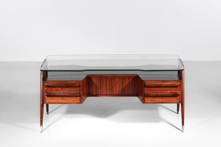 Desk by Vittorio Dassi, 1950s Italian Design For Sale 6