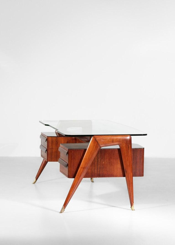 Desk by Vittorio Dassi, 1950s Italian Design For Sale 10