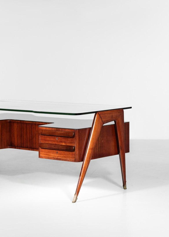 Desk by Vittorio Dassi, 1950s Italian Design For Sale 11