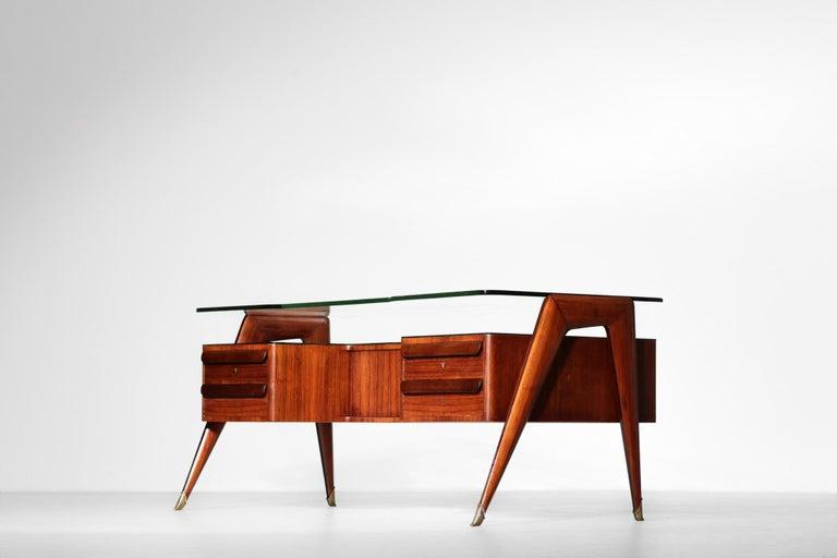 Mid-Century Modern Desk by Vittorio Dassi, 1950s Italian Design For Sale