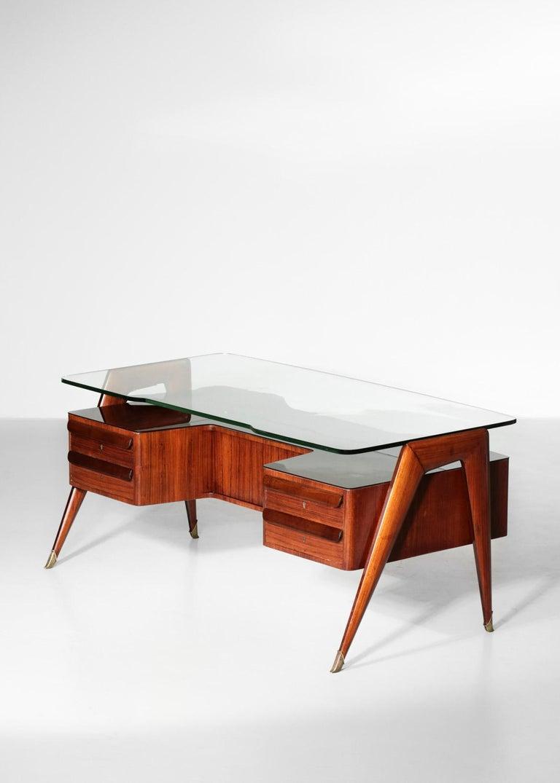 Desk by Vittorio Dassi, 1950s Italian Design In Good Condition For Sale In Lyon, FR