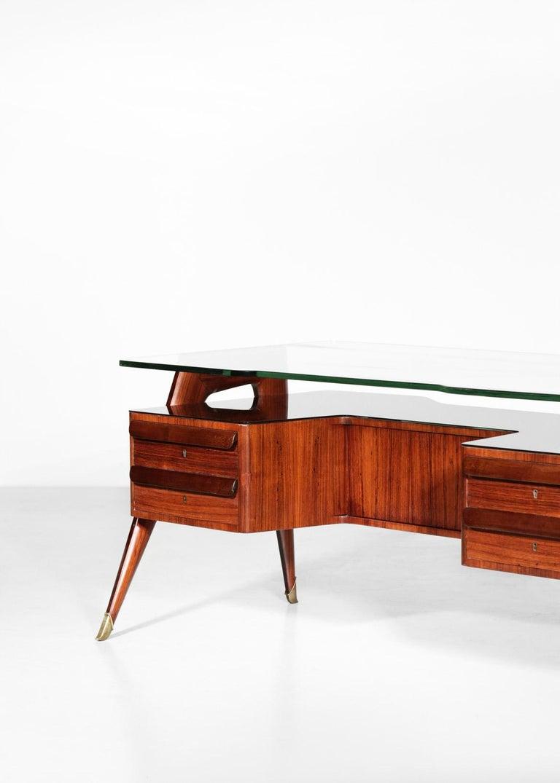 Brass Desk by Vittorio Dassi, 1950s Italian Design For Sale