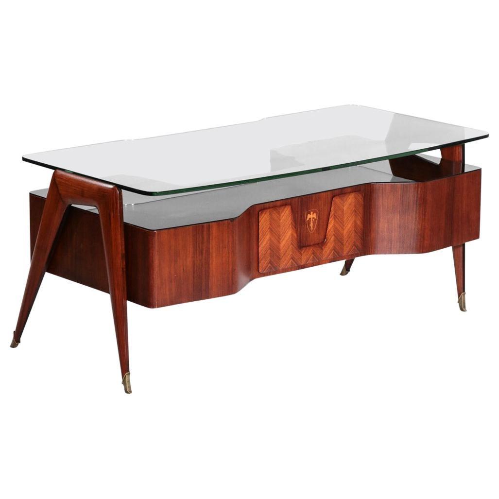 Desk by Vittorio Dassi, 1950s Italian Design