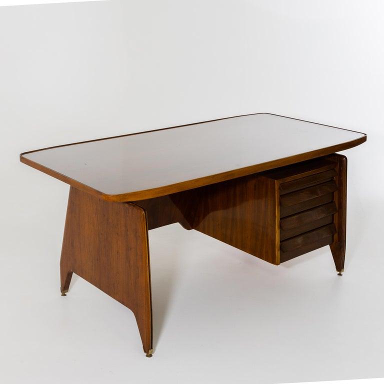 Wood Desk by Vittorio Dassi, Italy, 1950s