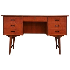 Desk Danish Design Vintage 1960s Teak