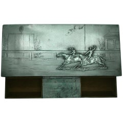Desk Equestrian Horse Racing Cigar Box, circa 1900s