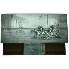 Desk Equestrian Horse Racing Cigar Smoking Box, circa 1900s