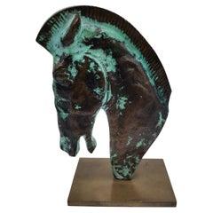 Desk figurine Head of Horse, bronze, Hagenauer Vienna, Austria